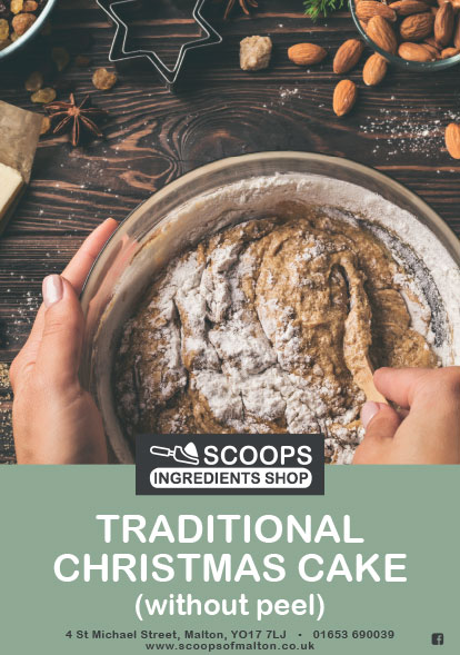 Scoops Traditional Christmas Fruit Cake Pack without Peel