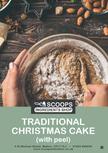 Scoops Traditional Christmas Fruit Cake Pack with Peel