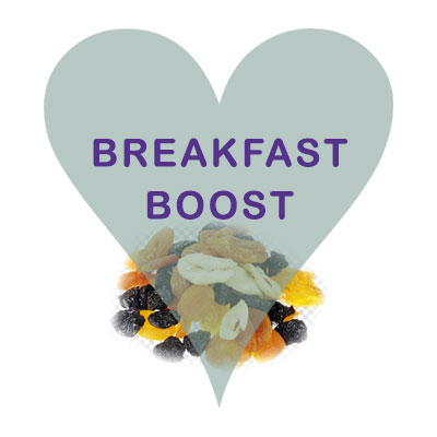 Scoops Breakfast Booster (apricot, banana, dates, raisins, sultana)