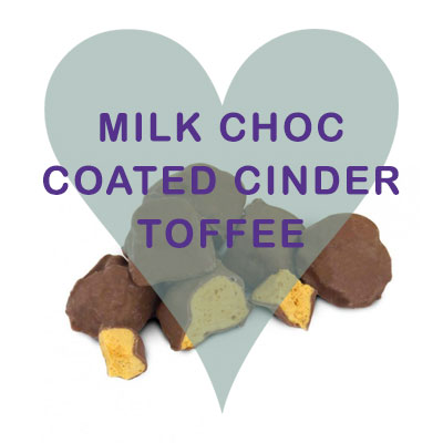 Scoops Milk Chocolate coated Cinder Toffee