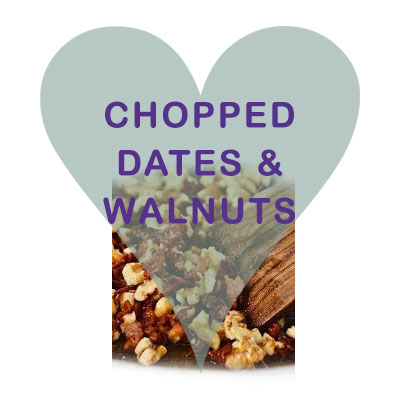 Scoops Chopped Date and Walnuts