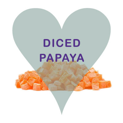 Scoops Diced Papaya