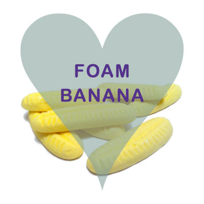 Foam Bananas pick and mix