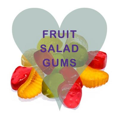 Fruit salad gums pick and mix