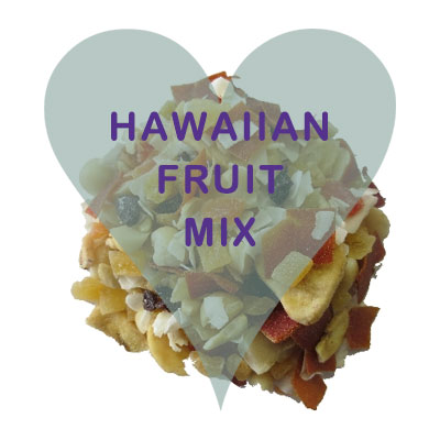 Scoops Hawaiian Fruit Mix (apple, apricot, coconut, golden raisin, sultana, papaya, pineapple, mango, cranberries)