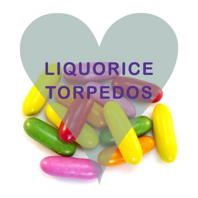 Liquorice Torpedos pick and mix