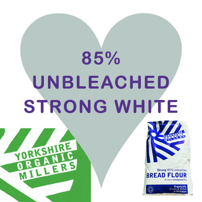 Yorkshire Organic Millers 85% Unbleached Strong White Flour