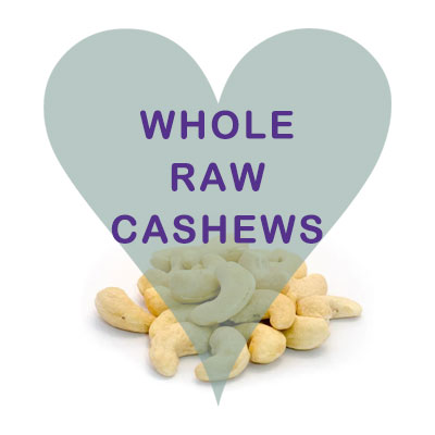Scoops Whole Raw Cashews