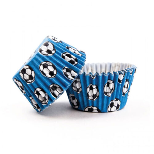 Scoops - Blue Football Style Muffin Cases 36