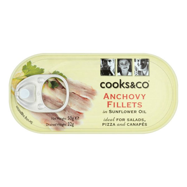 Cooks&Co Anchovy Fillets in Sunflower Oil