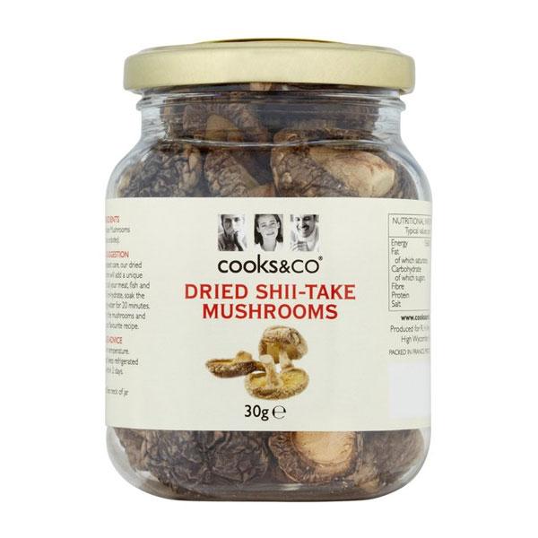 Cooks&Co Dried Shii-Take Mushrooms