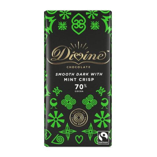 Divine Chocolate – Smooth Dark with Mint Crisp 70%
