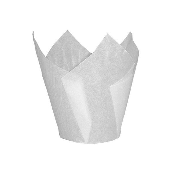 Easybake Tulip Wraps White Muffin Cases 50