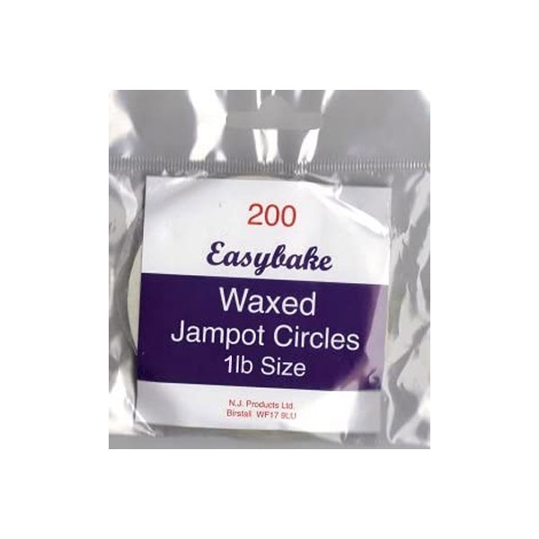 Easybake Waxed Jampot Circles