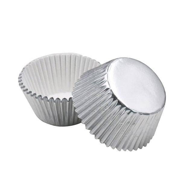 Foilcraft Silver Foil Muffin Cases 24