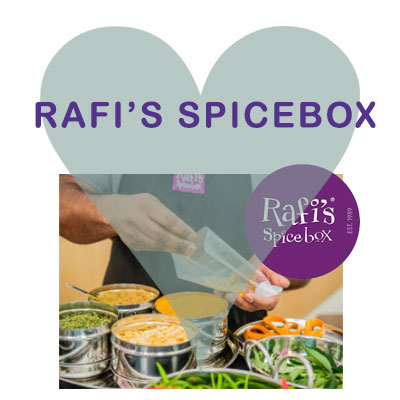 Rafi's Spicebox available at Scoops Malton