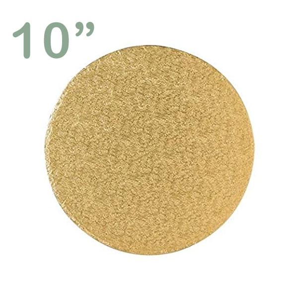 "Round Cake Drum 10"" Gold"