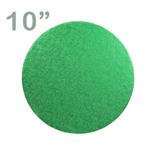 "Round Cake Drum 10"" Green"