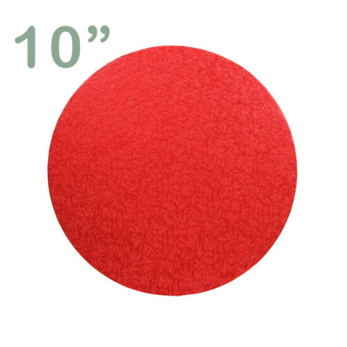 "Round Cake Drum 10"" Red"