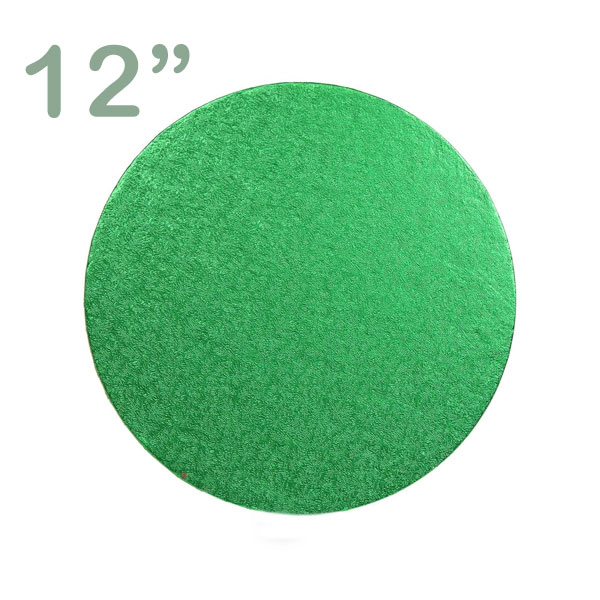 "Round Cake Drum 12"" Green"