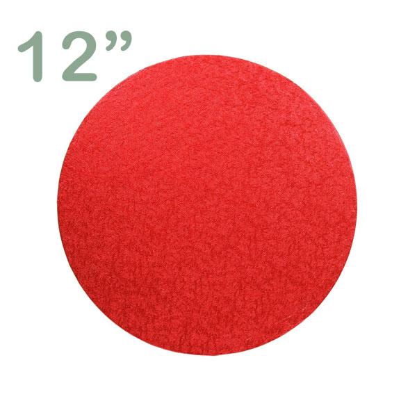 "Round Cake Drum 12"" Red"