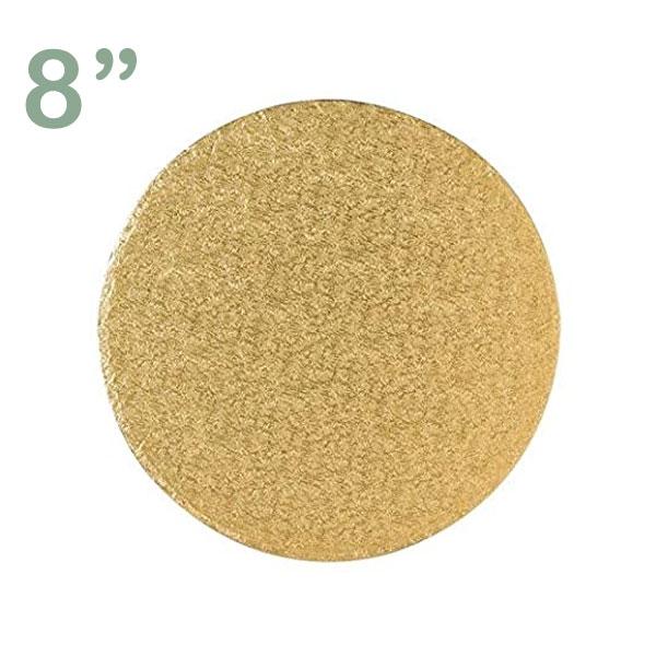 "Round Cake Drum 8"" Gold"