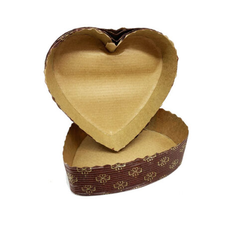 Scoops - Love Heart Greaseproof Cake Trays Pack of 5