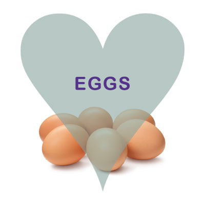 Medium and Large Happy Hen Eggs available at Scoops of Malton