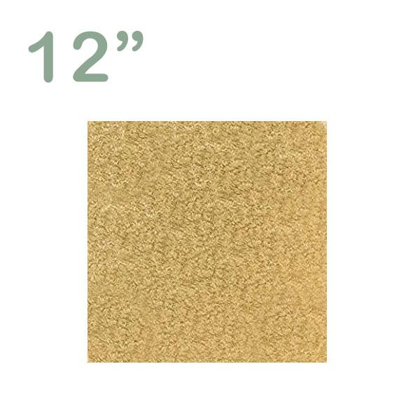 """Square Cake Drum 12"""" Gold"""