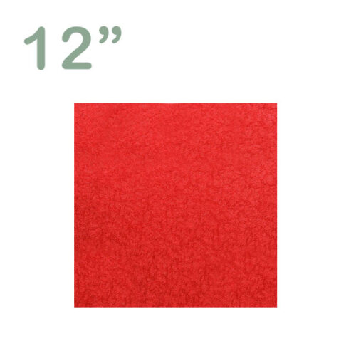 "Square Cake Drum 12"" Red"