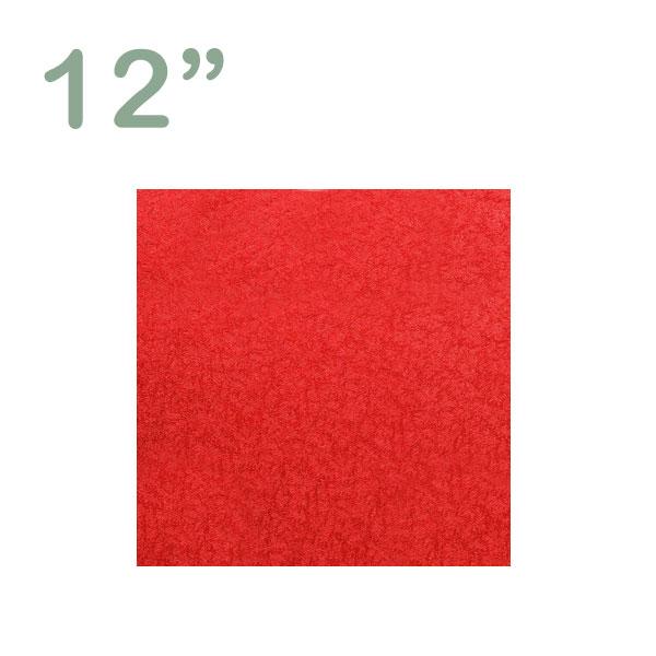 """Square Cake Drum 12"""" Red"""