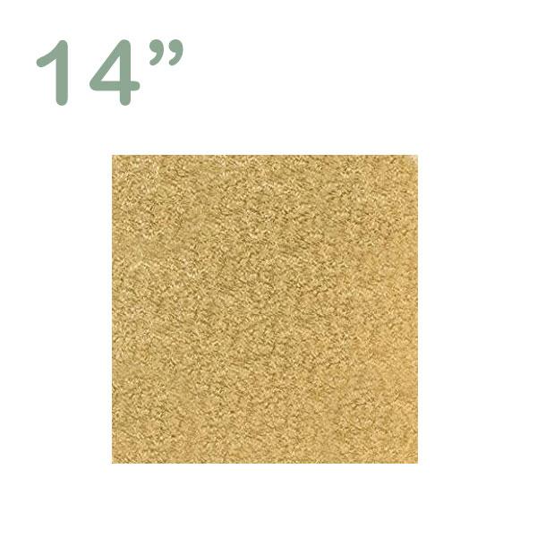 """Square Cake Drum 14"""" Gold"""