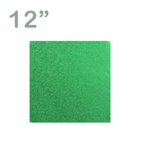 "Square Cake Drum 12"" Green"
