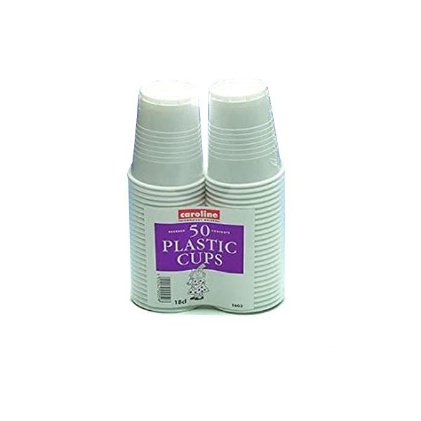 Caroline 1603 - Plastic Cups 18cl 50