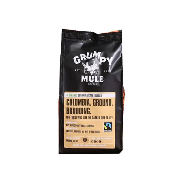 Grumpy Mule Ground Coffee Colombian Cafe Equida