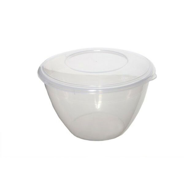 Round Plastic Pudding Basin with Lid